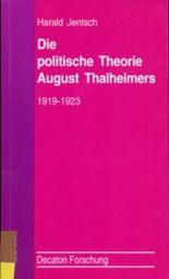 Die politische Theorie August Thalheimers. 1919-1923