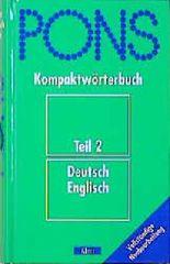PONS Kompaktwörterbuch, Deutsch-Englisch