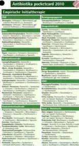 Antibiotika pocketcard 2010