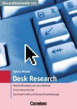 Das professionelle 1 x 1 / Desk Research