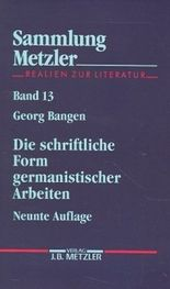 Die schriftliche Form germanistischer Arbeiten
