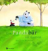 Ein Pandabär im Garten