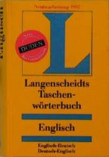 Englisch - Deutsch / Deutsch - Englisch. Taschenwörterbuch. Langenscheidt. Rund 120 000 Stichwörter und Wendungen (Langenscheidt Taschenwörterbücher)