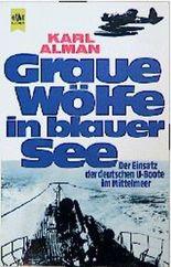 Graue Wölfe in blauer See