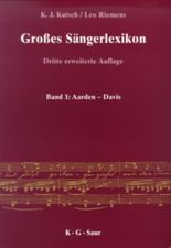 Großes Sängerlexikon, 5 Bde.