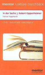 Heinar Kipphardt 'In der Sache J. Robert Oppenheimer'