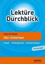 Heinrich Mann: Der Untertan - Buch mit Info-Klappe
