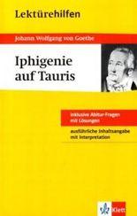 """Lektürehilfen Johann Wolfgang von Goethe """"Iphigenie auf Tauris"""""""