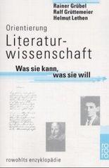 Orientierung Literaturwissenschaft