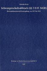 Schwangerschaftsabbruch (§§ ff. StGB)