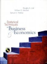Statistical Techniques in Business & Economics, w. Student-CD-ROM