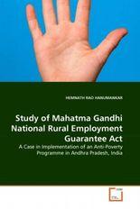 Study of Mahatma Gandhi National Rural Employment Guarantee Act