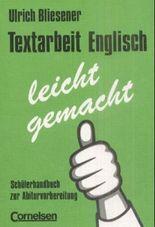 Textarbeit Englisch - leicht gemacht