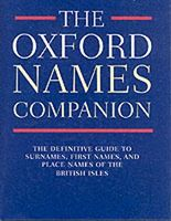 The Oxford Names Companion