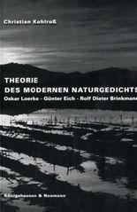 Theorie des modernen Naturgedichts