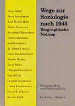 Wege zur Soziologie nach 1945