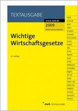 Wichtige Wirtschaftsgesetze, Ausgabe 2009