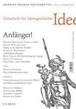 Zeitschrift für Ideengeschichte Heft I/2 Sommer 2007: Anfänger