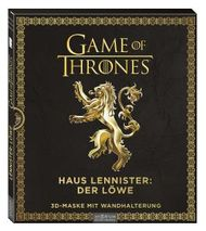 Game of Thrones - Haus Lennister: Löwe: 3D-Maske mit Wandhalterung
