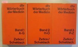 3 Bände dtv Wörterbuch der Medizin: Band 1 A-G. Band 2 H-O. & Band 3 P-Z. (komplett)