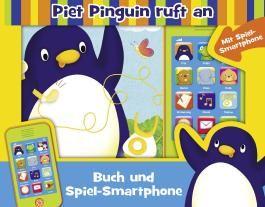 Piet Pinguin ruft an - Buch und Spiel-Smartphone - Pappbilderbuch