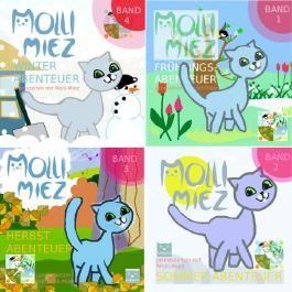 Jahreszeiten mit Kätzchen Molli-Miez