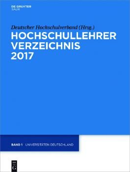 Hochschullehrer Verzeichnis / Universitäten Deutschland