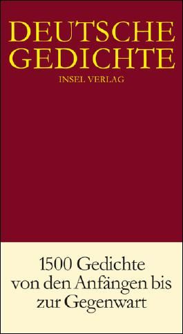 Deutsche Gedichte in einem Band