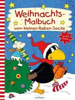 Der kleine Rabe Socke: Weihnachts-Malbuch vom kleinen Raben Socke