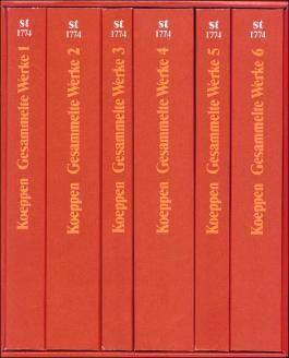 Gesammelte Werke in sechs Bänden in den suhrkamp taschenbüchern