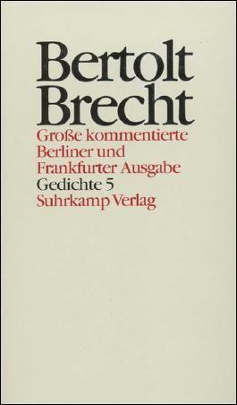 Gedichte 5. Gedichte und Gedichtfragmente 1940–1956