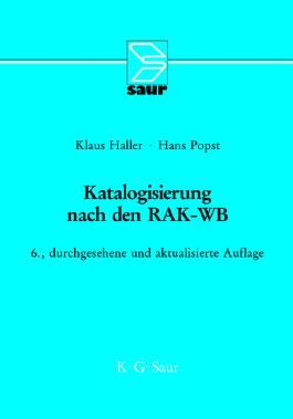 Katalogisierung nach den RAK-WB