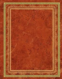 Blank Book Lederlook rotbraun (groß) - Einschreibebuch / Notizbuch