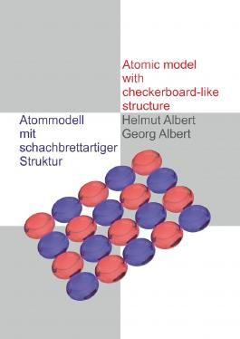 Atommodell mit schachbrettartiger Struktur