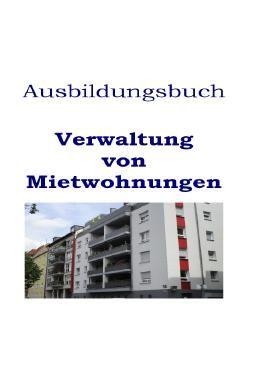 Ausbildungsbuch Verwaltung von Mietwohnungen