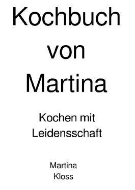 Martina Kochbuch