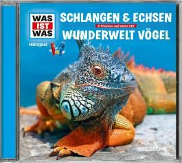 WAS IST WAS Hörspiel-CD: Schlangen & Echsen/ Wunderwelt Vögel