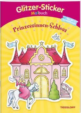 Glitzer-Sticker-Malbuch. Prinzessinnen-Schloss