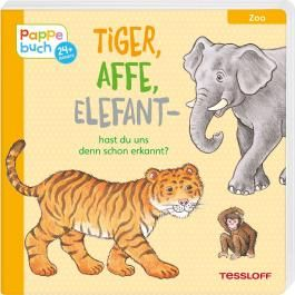 Tiger, Affe, Elefant