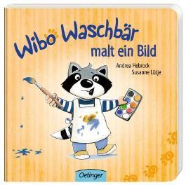 Wibo Waschbär malt ein Bild