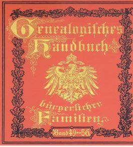 Genealogisches Handbuch bürgerlicher Familien, 1 CD-ROM. Bd.49-56