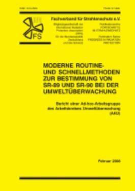 Moderne Routine- und Schnellmethoden zur Bestimmung von SR-89 und SR-90 bei der Umweltüberwachung
