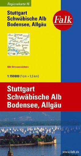 Falk Regionalkarte Deutschland Blatt 15 Stuttgart 1:150 000