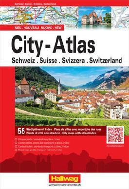 City-Atlas Schweiz mit 55 Stadtpläne
