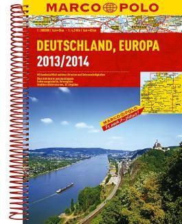 Marco Polo Reiseatlas Deutschland, Europa 2013/2014 1:300.000