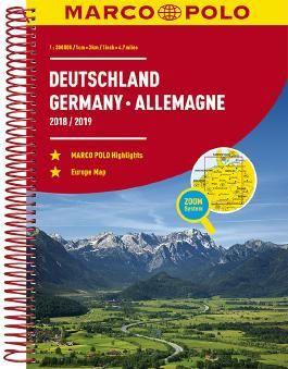 MARCO POLO Reiseatlas Deutschland 2018/2019 1:300 000, Europa 1:4 500 000