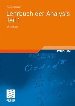 Lehrbuch der Analysis. Teil 1