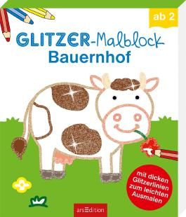 Glitzer-Malblock Bauernhof