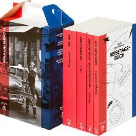 SZ Literaturkoffer Frankreich | Bücher Set | Literatur-Sammlung mit Olmi, Maupassant und Pernath | 4 Taschenbücher