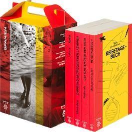 SZ Literaturkoffer Spanien   Bücher Set   Literatur-Sammlung mit Rodoreda, Laforet und Montalbán   4 Taschenbücher